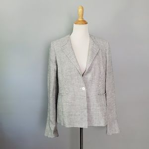 MaxMara White Small Star Jacket Blazer Size 14